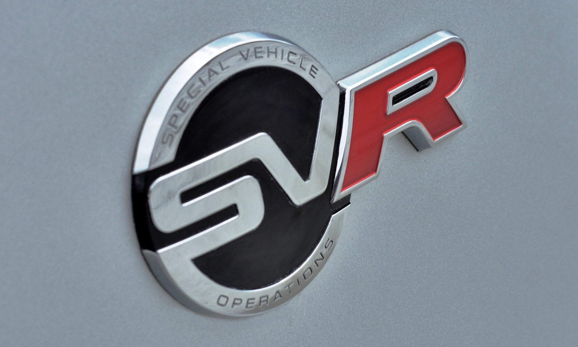 Jaguar SVR badge