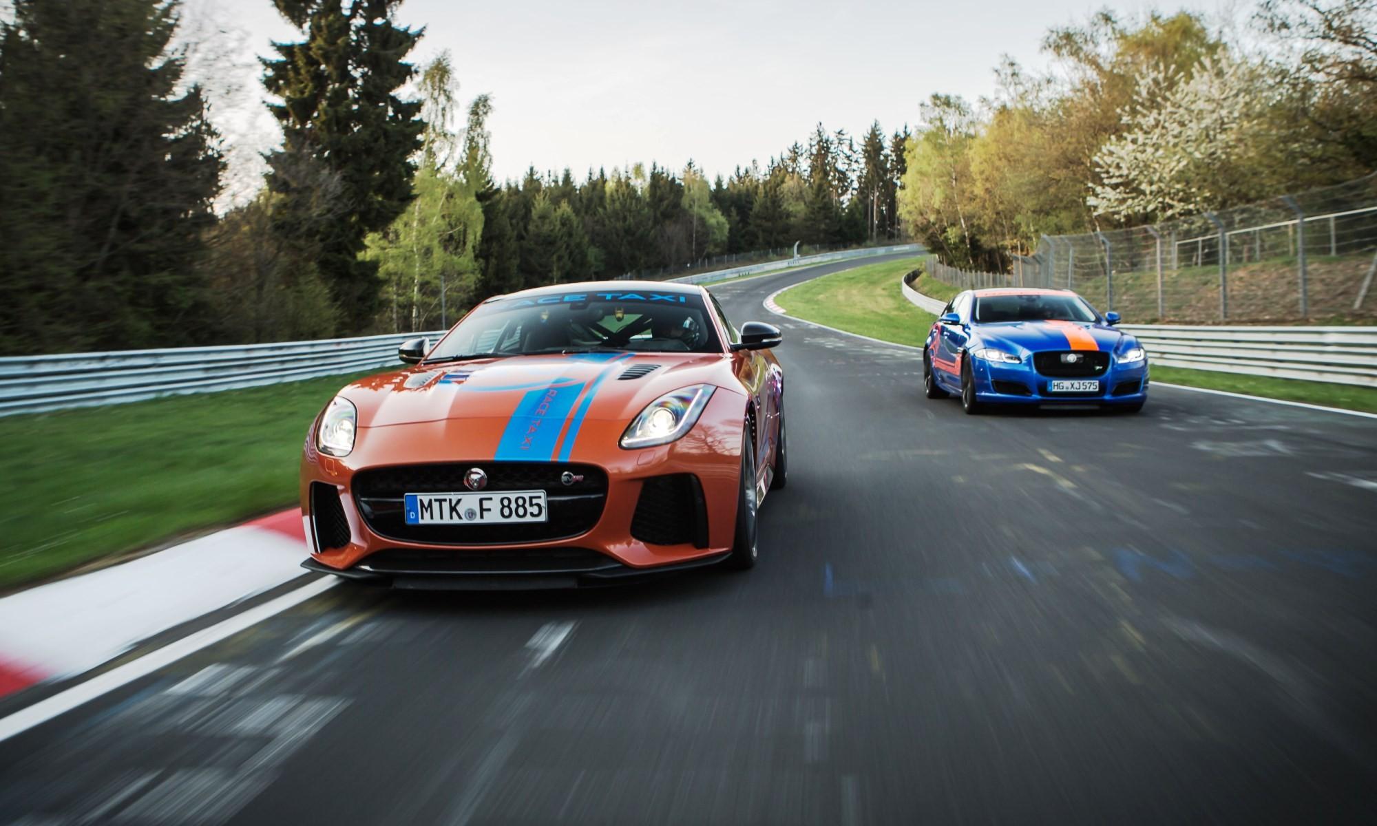 Jaguar Taxi Rides at Nurburgring