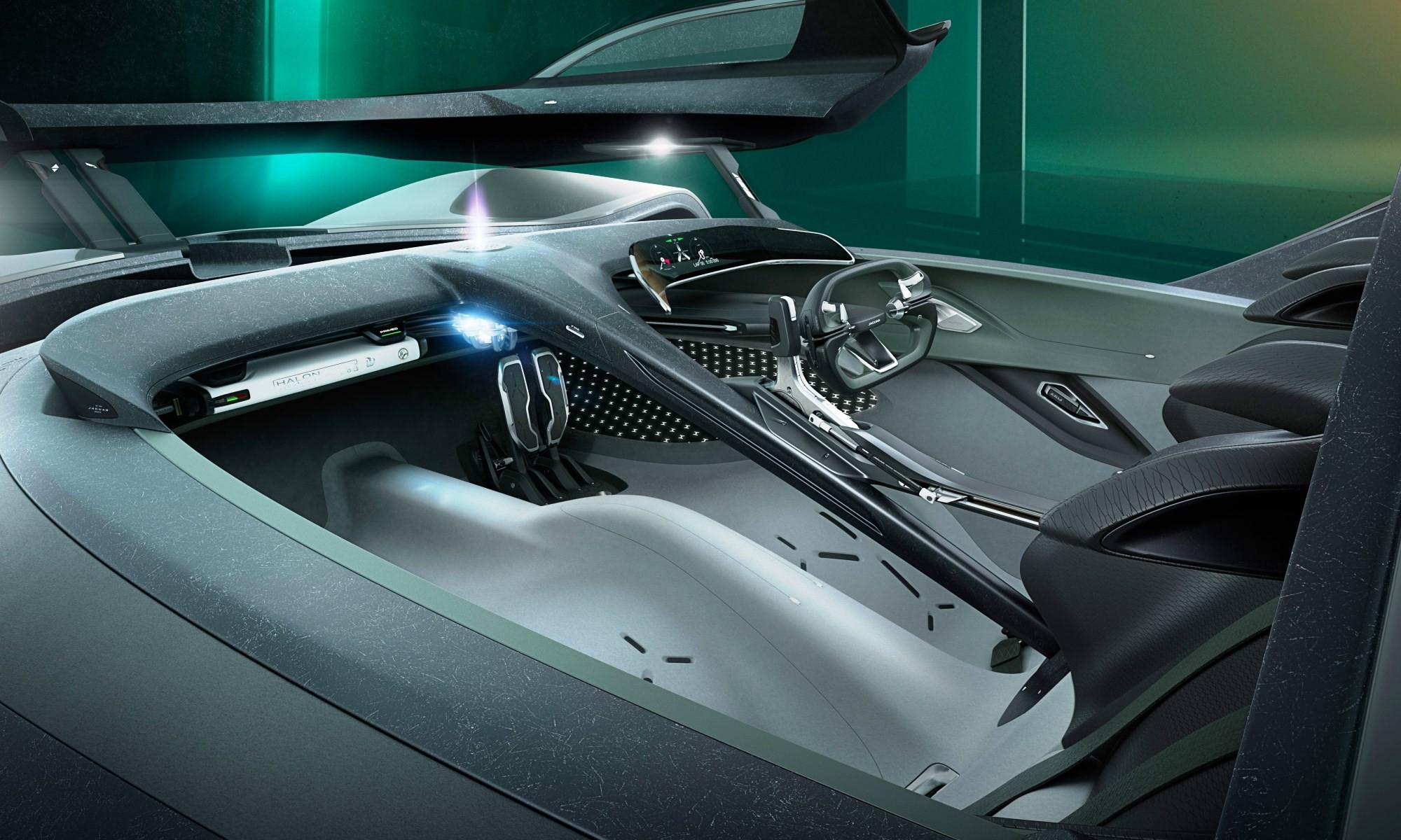 Jaguar Vision Gran Turismo Coupe cabin