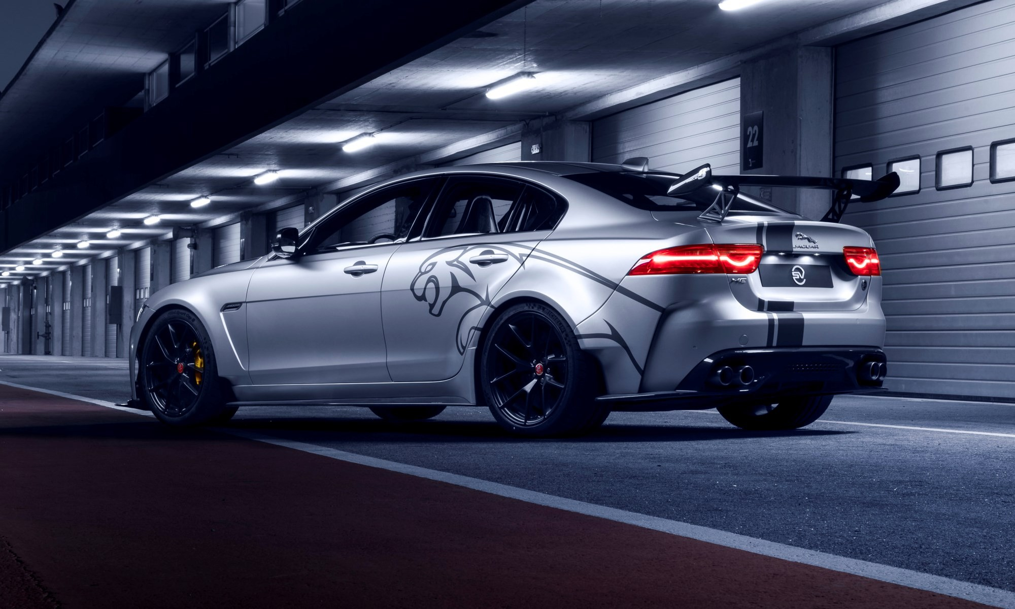 Jaguar XE SV Project 8 rear static