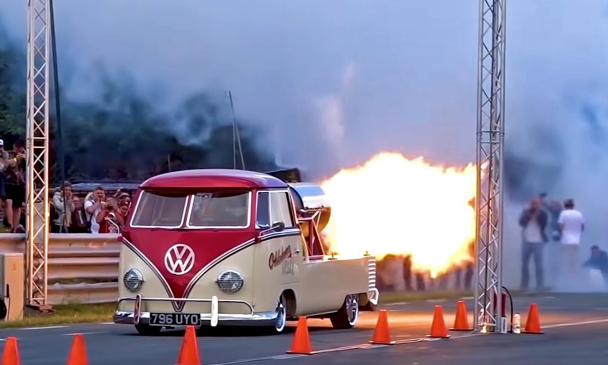 Jet Powered VW Bus