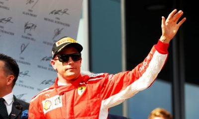 Kimi Raikkonen waves good bye to Ferrari