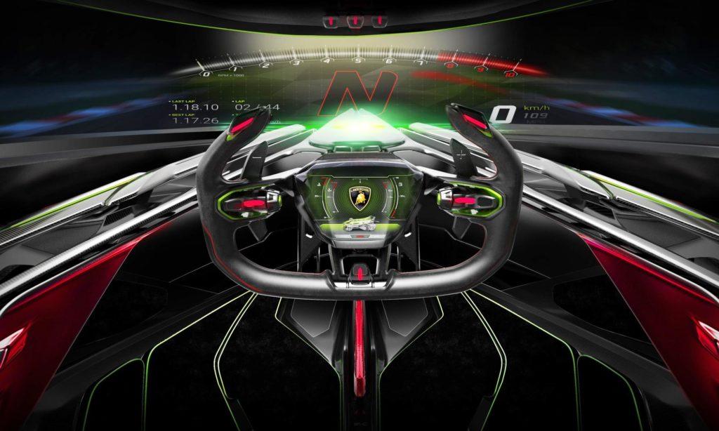 Lambo V12 Vision GT steering