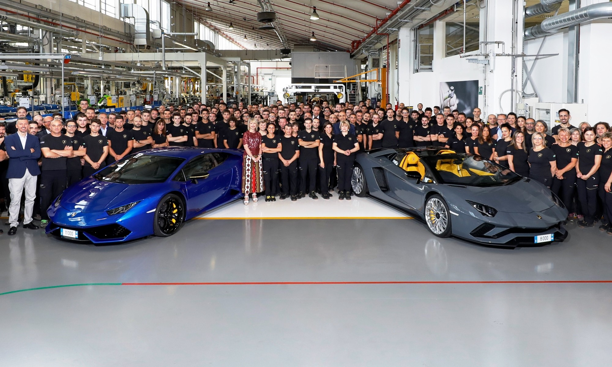 Lamborghini Aventador 8 000 and Huracan 11 000