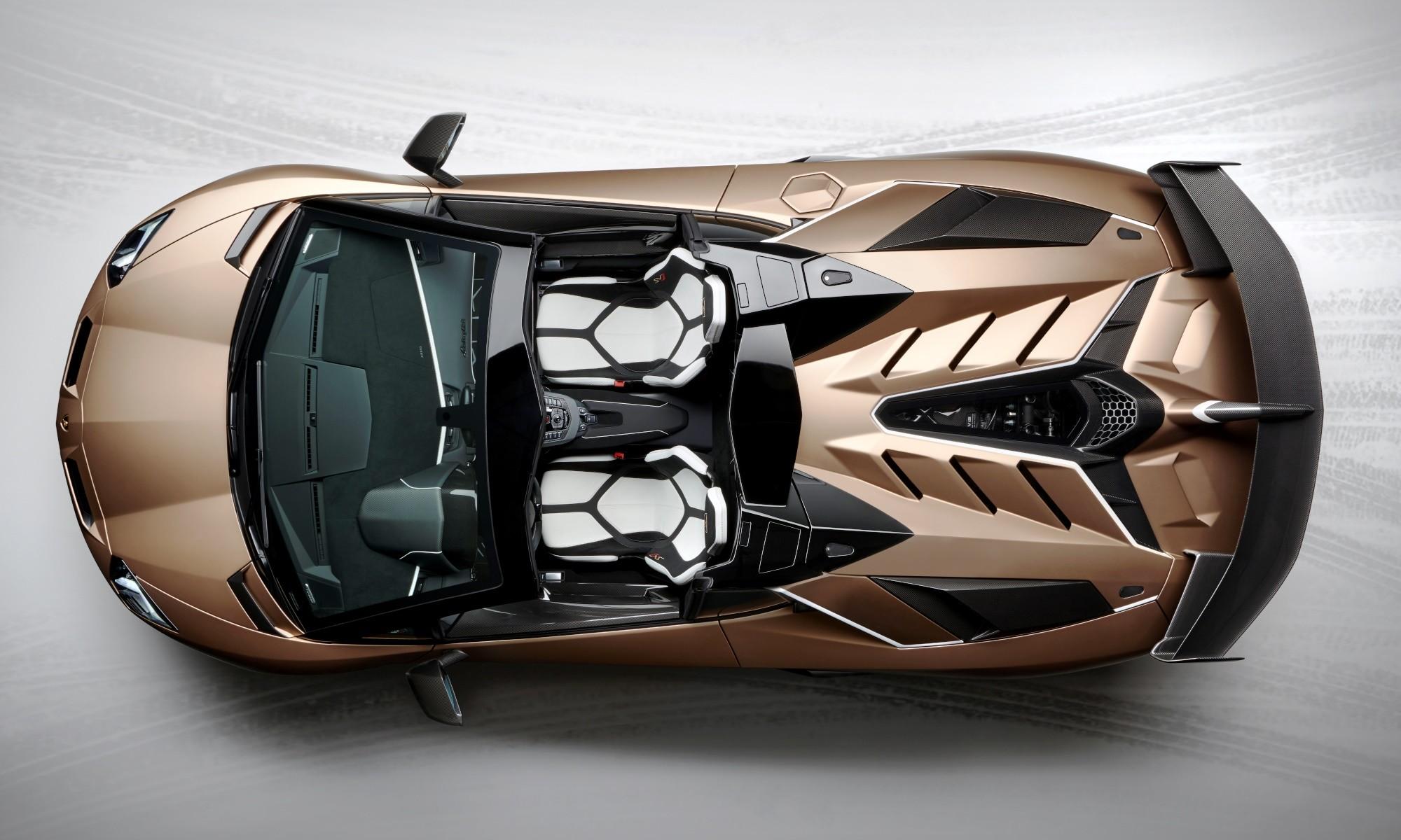 Lamborghini Aventador SVJ Roadster overhead
