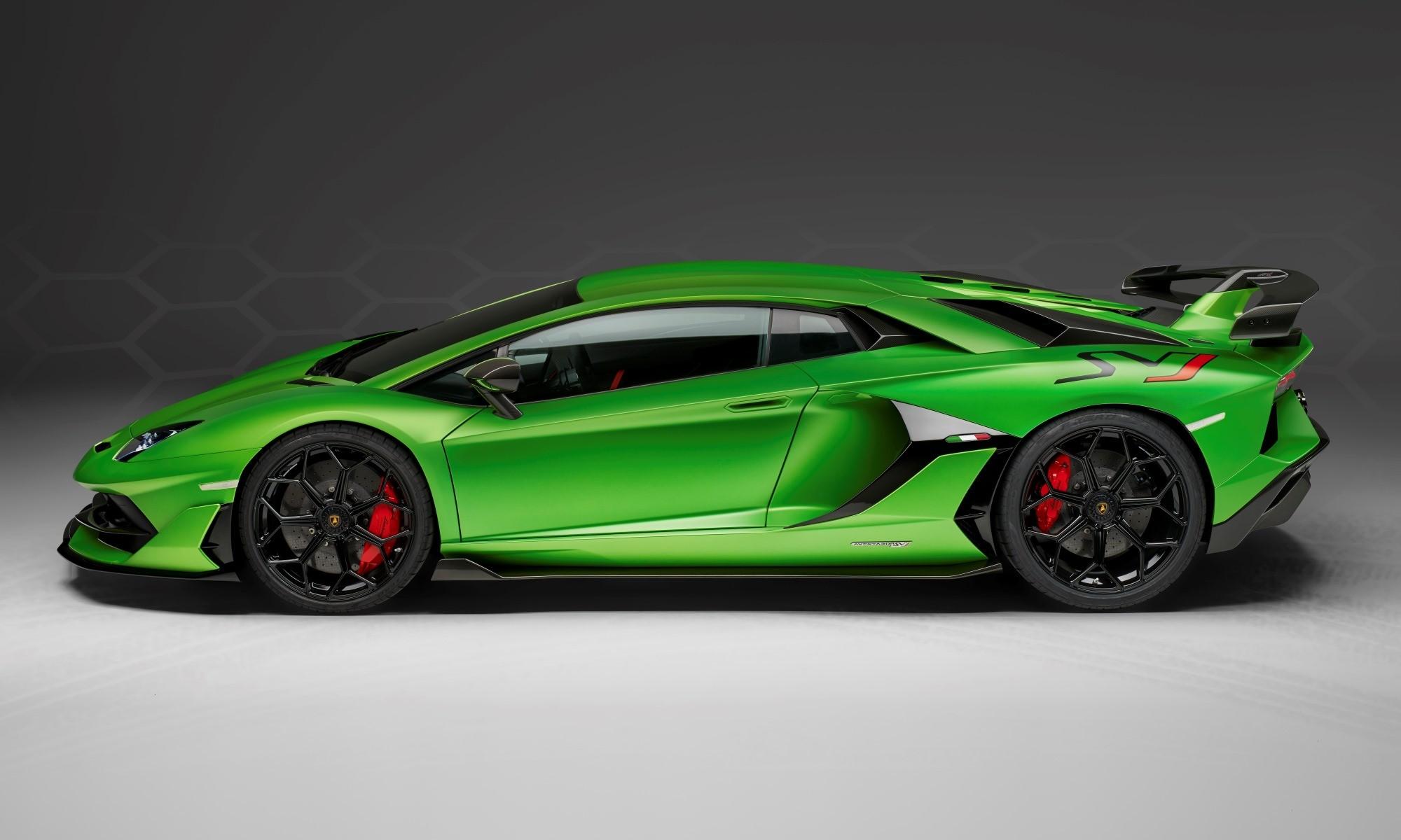 Lamborghini Aventador SVJ profile