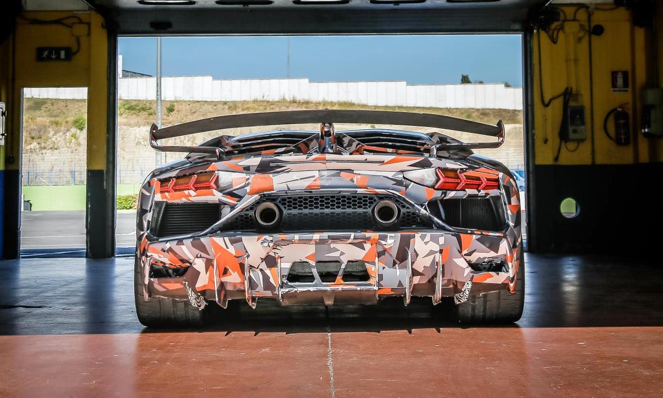 Lamborghini Aventador SVJ rear
