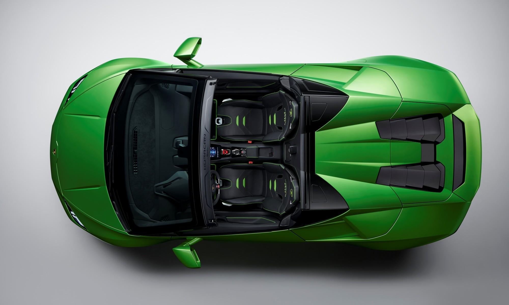 Lamborghini Huracan Evo Spyder overheadLamborghini Huracan Evo Spyder overhead