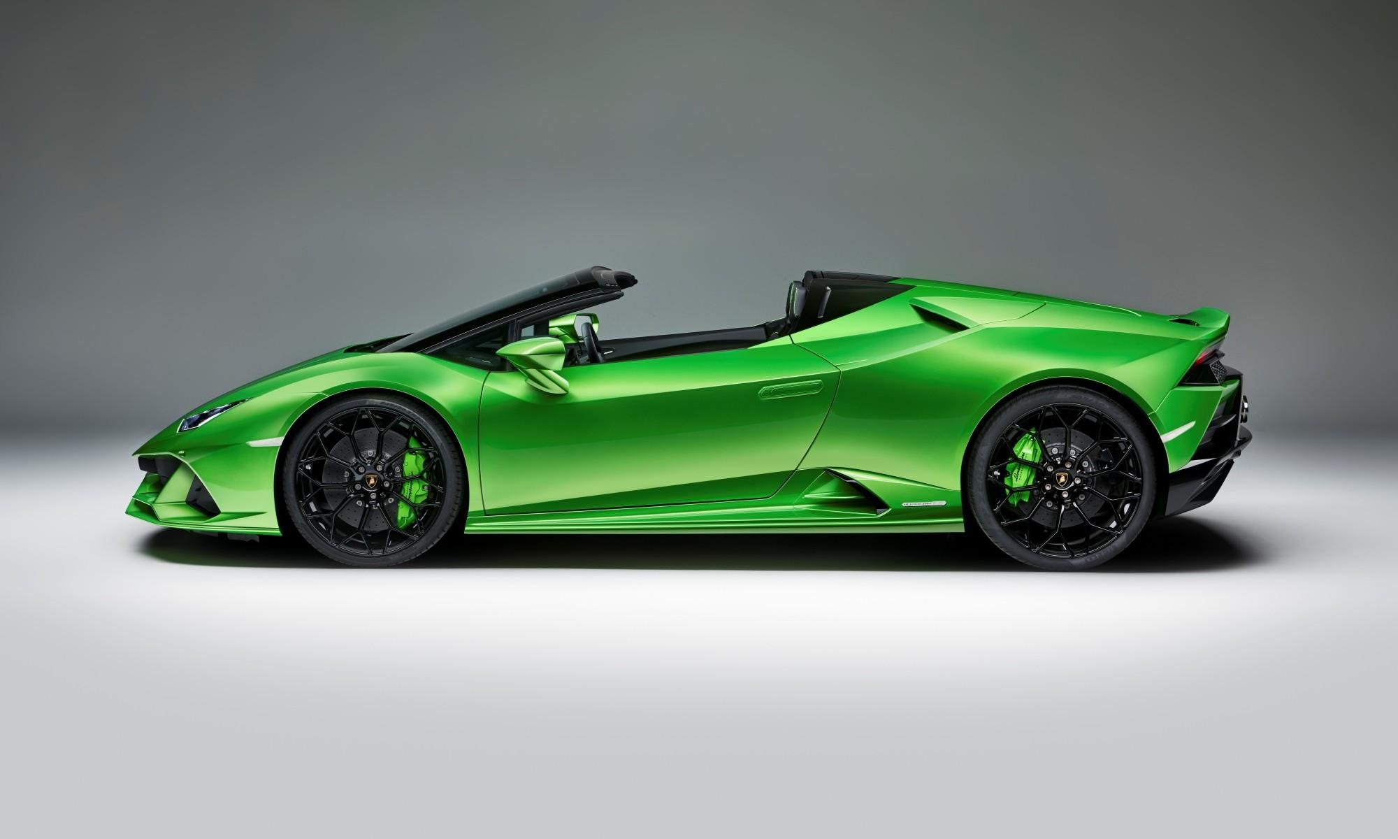 Lamborghini Huracan Evo Spyder profile