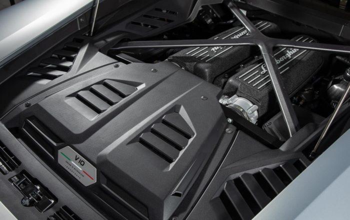 Lamborghini Huracan Evo driven engine