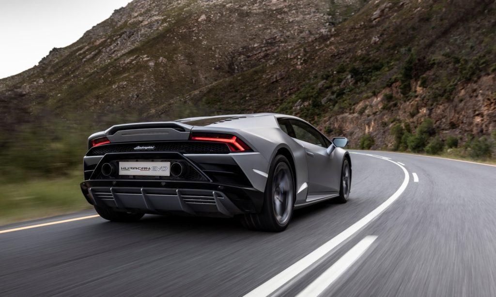 Lamborghini Huracan Evo driven rear