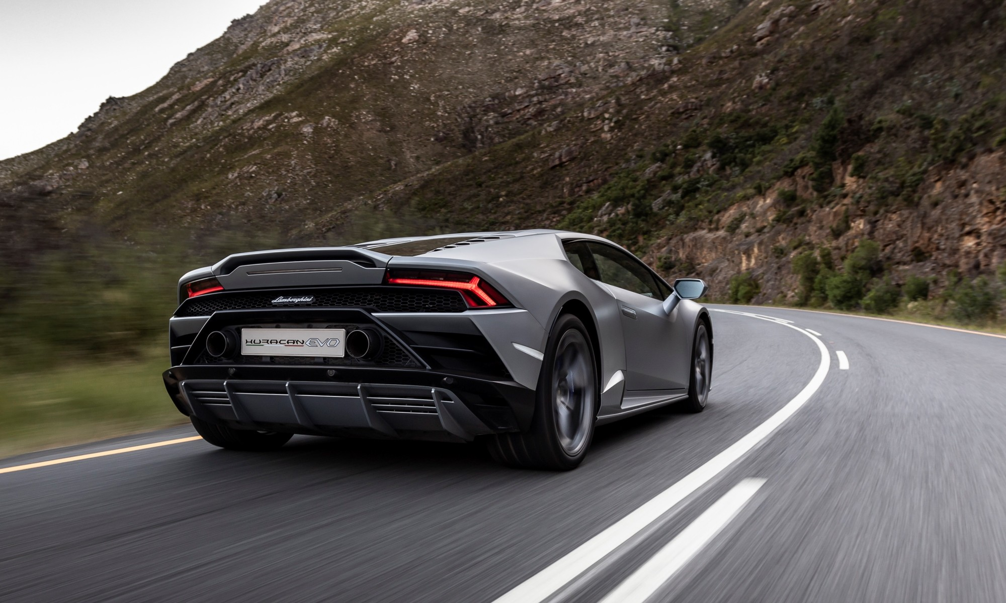 Lamborghini Huracan Evo driven rear
