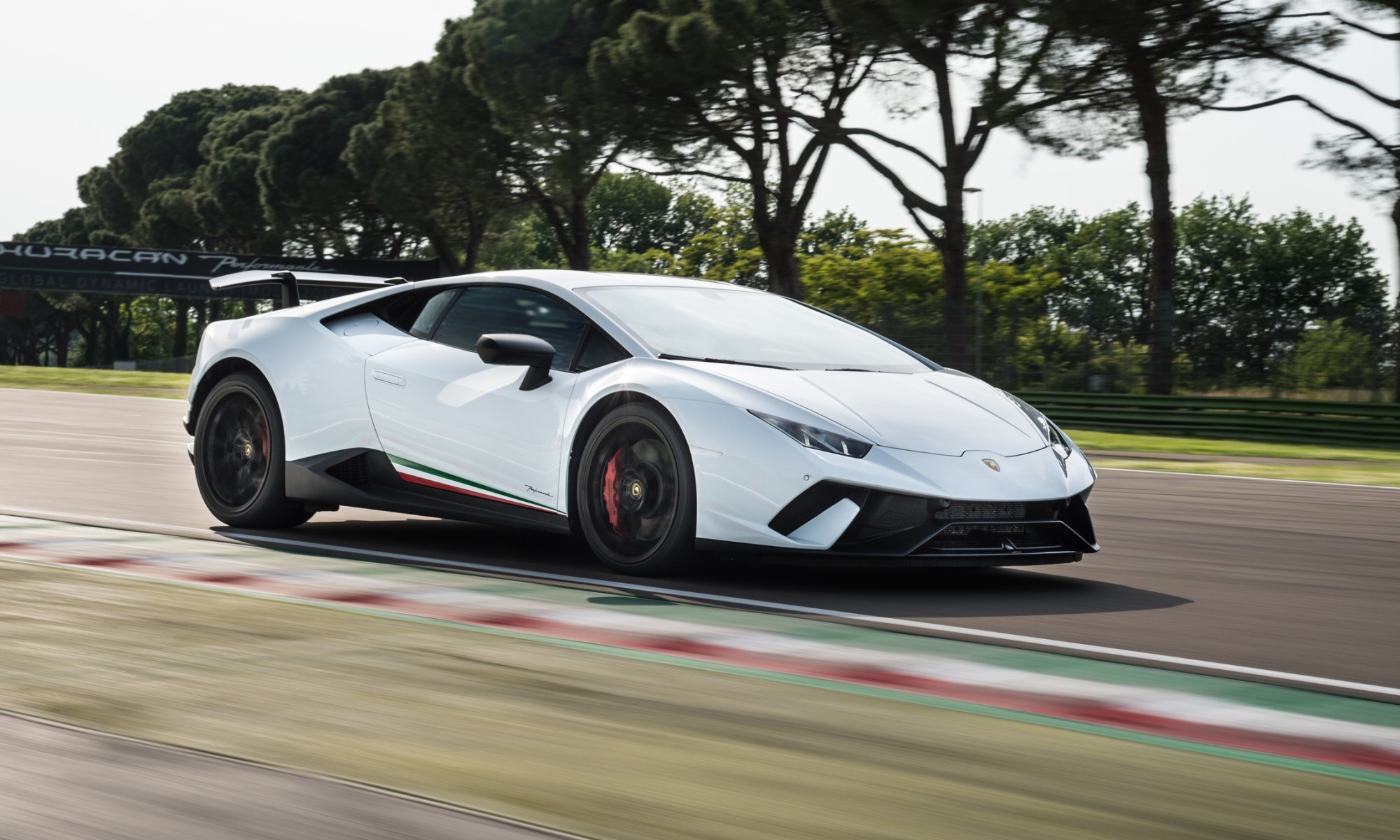 Lamborghini Huracan Performante on track