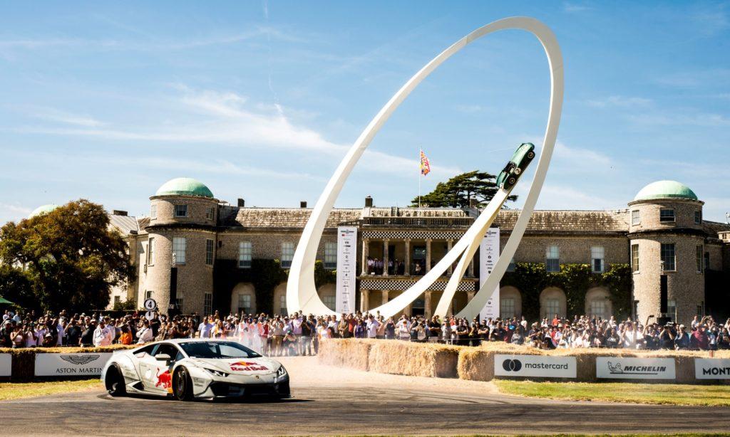 Lamborghini Huracan drifitng at 2019 Goodwood Festival of Speed