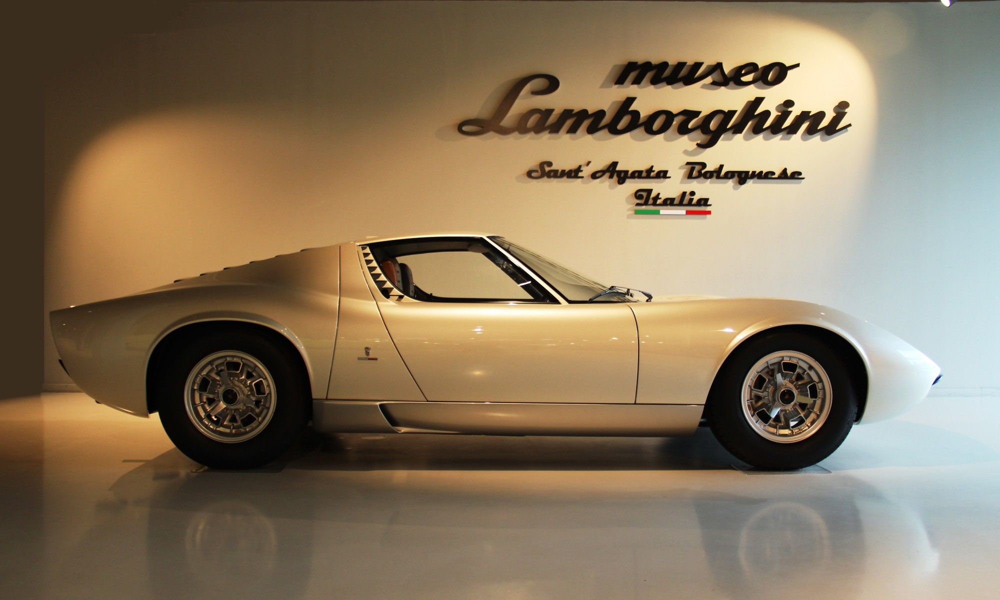 Lamborghini Museum features a beautiful Miura