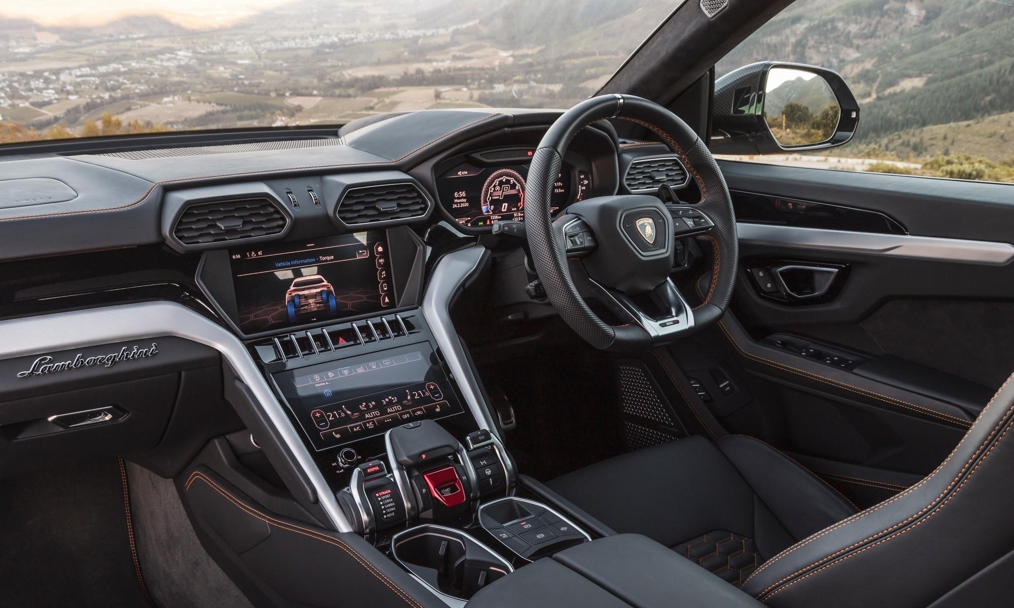 Lamborghini Urus driven interior