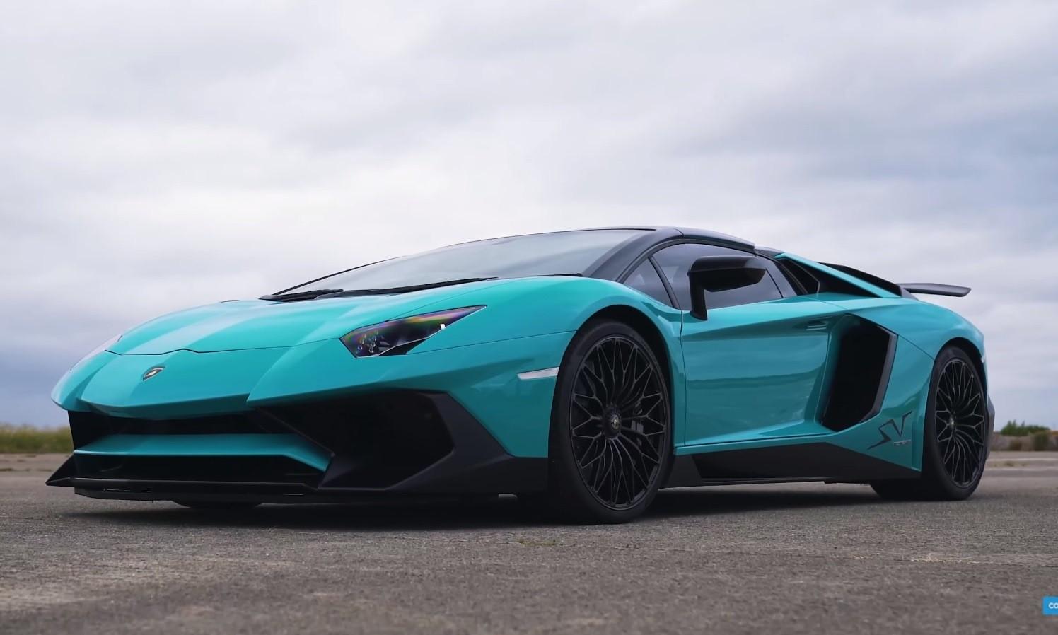Lamborghini drag race Aventador SV