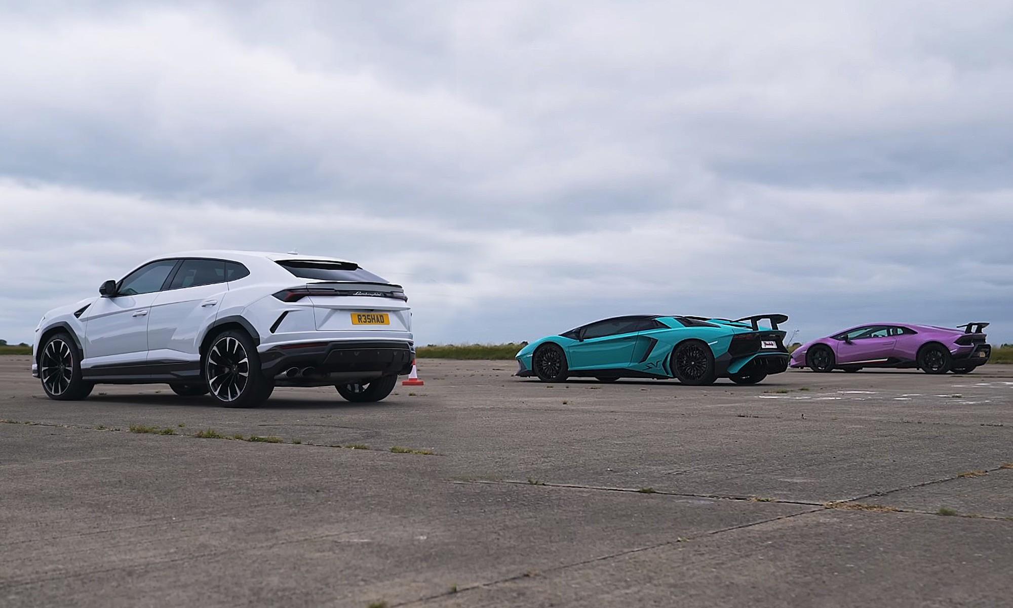 Lamborghini drag race rear