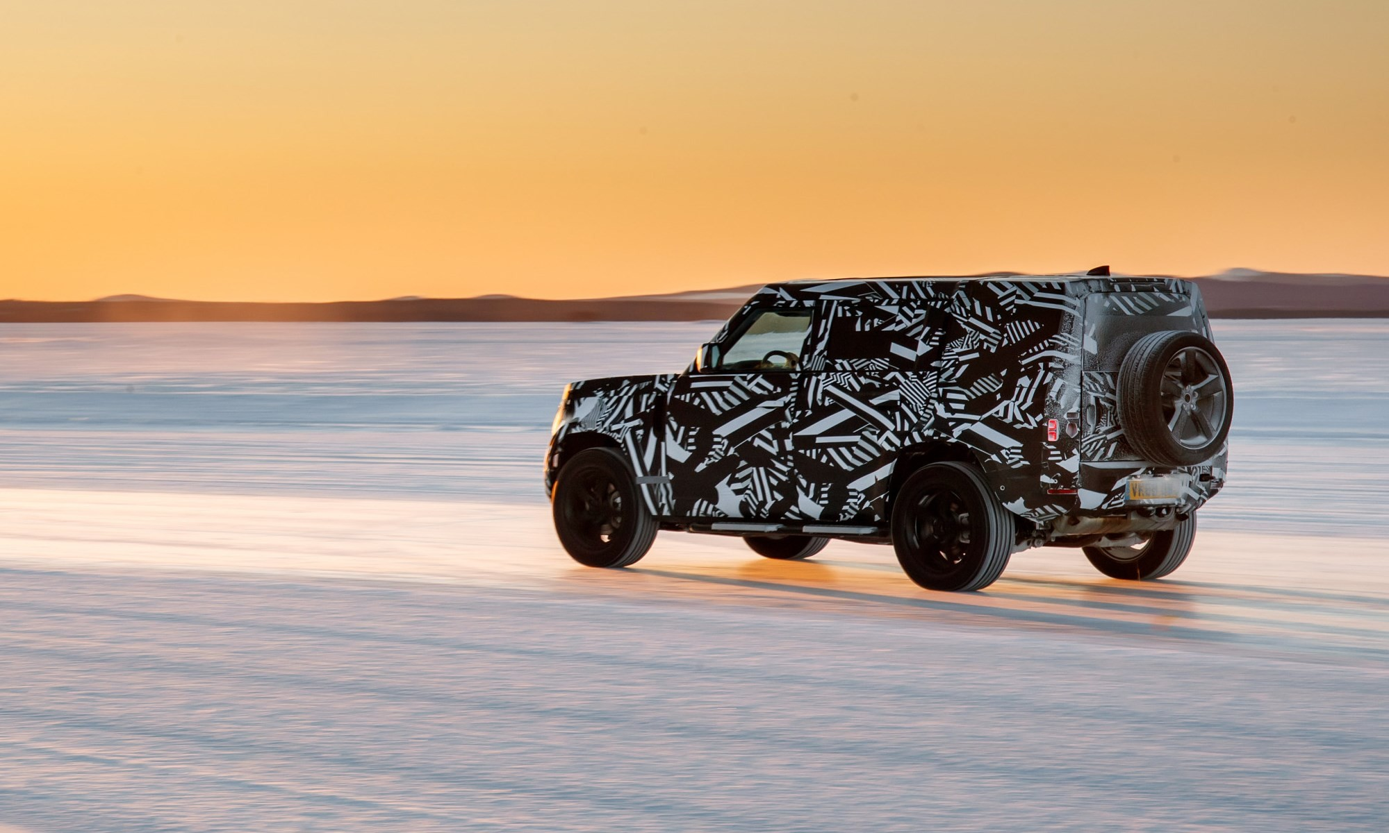 Land Rover Defender in the Arctic