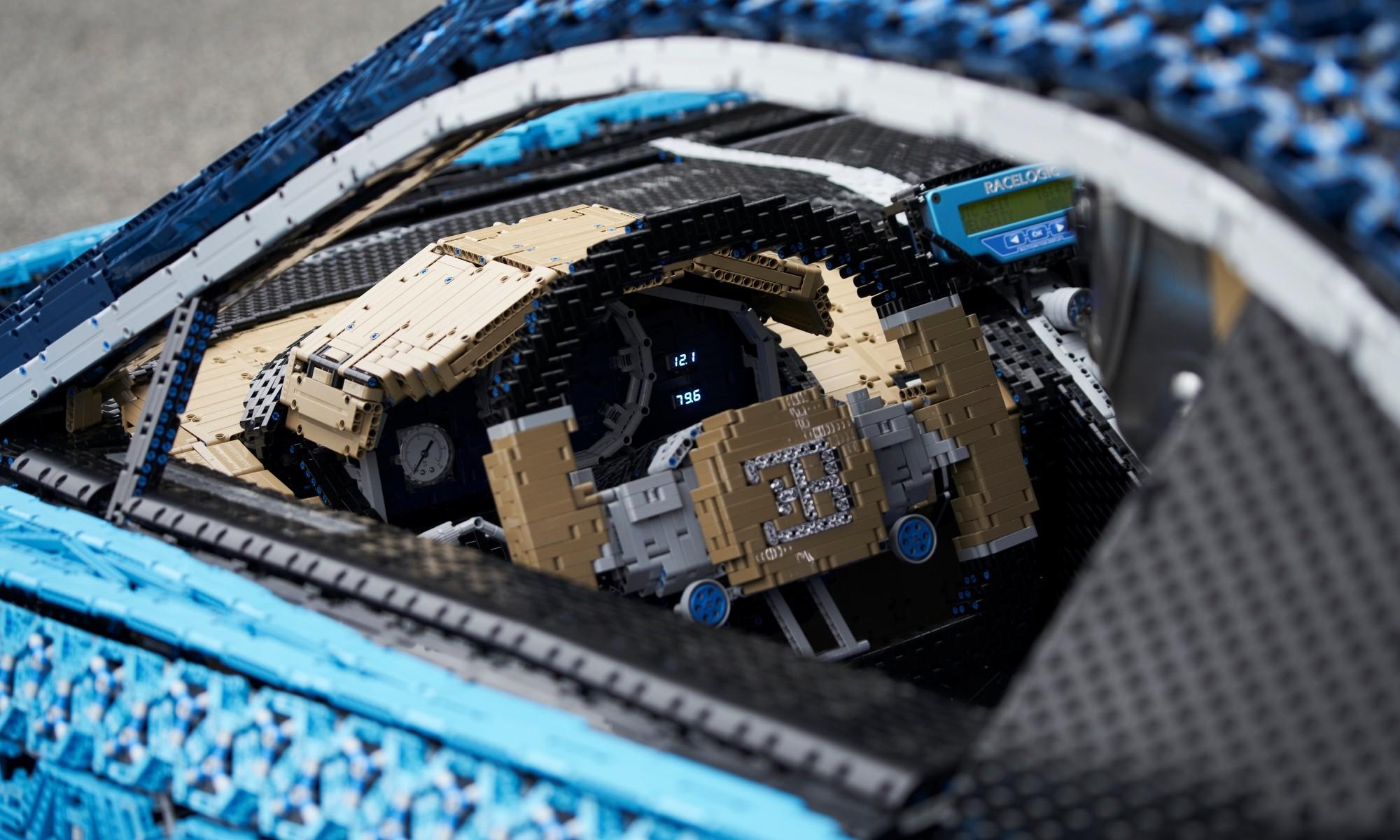 Lego Bugatti Chiron interior
