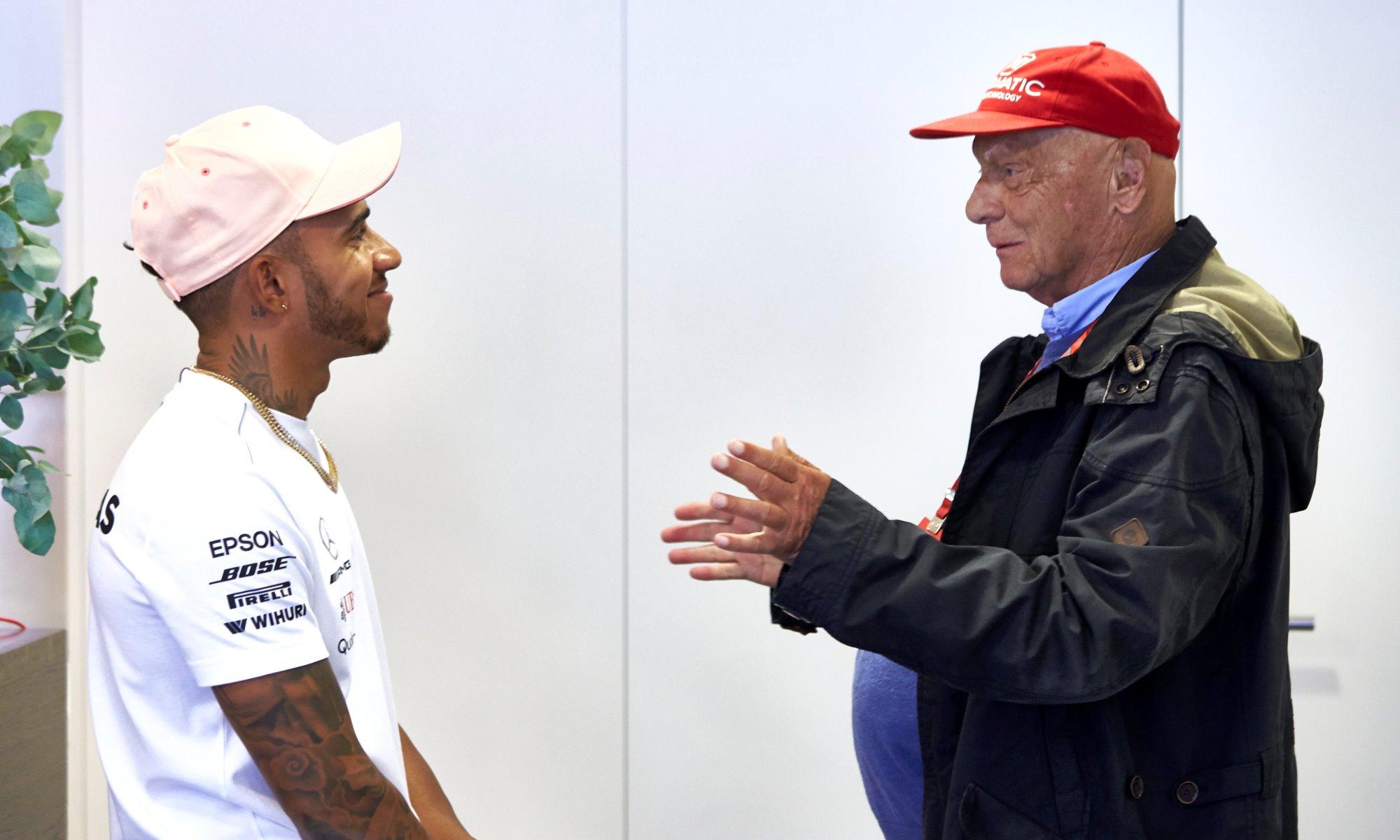 Lewis Hamilton and Lauda