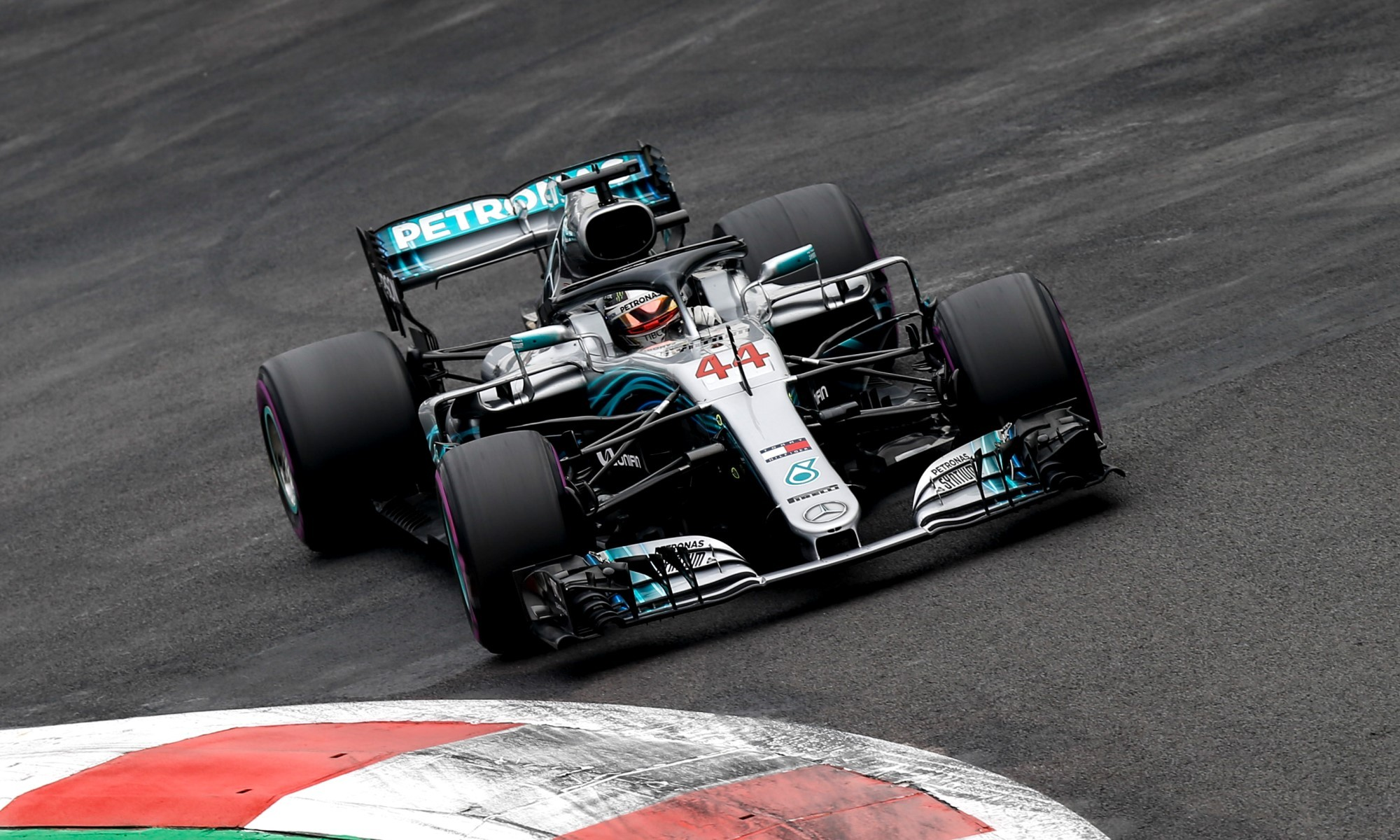 Lewis Hamilton in the 2018 F1 Driver's Champion