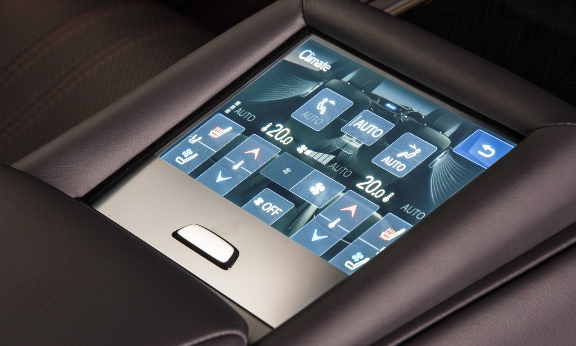 Lexus LS500 rear seat control panel