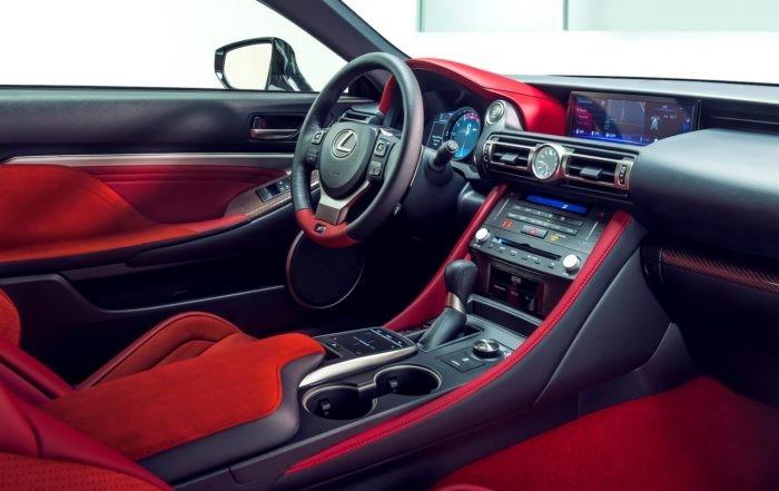 Lexus RC F Track Edition interior