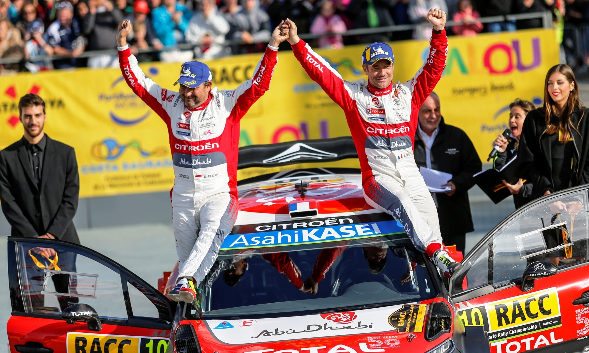 Loeb and Elena on the podium