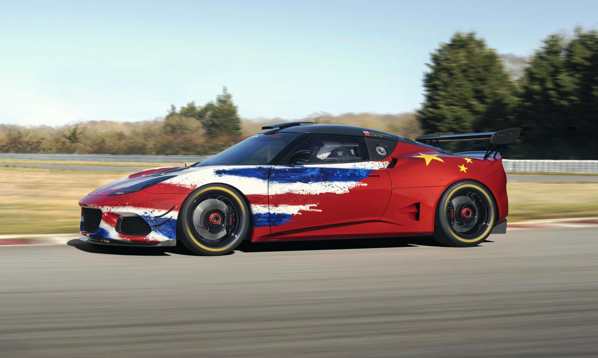 Lotus Evora GT4 Concept Racecar side