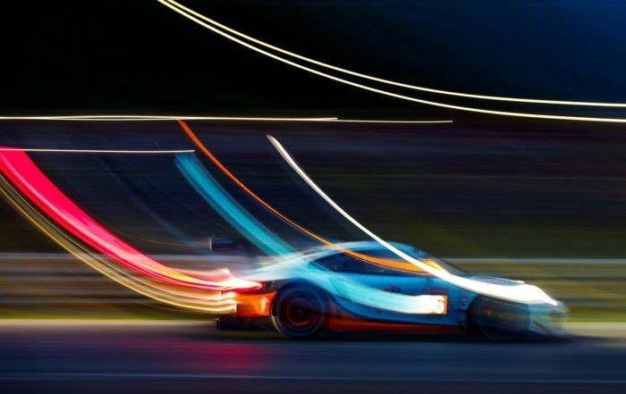 Low light conditions of 24 Hours of Le Mans lends itself to artistic photography