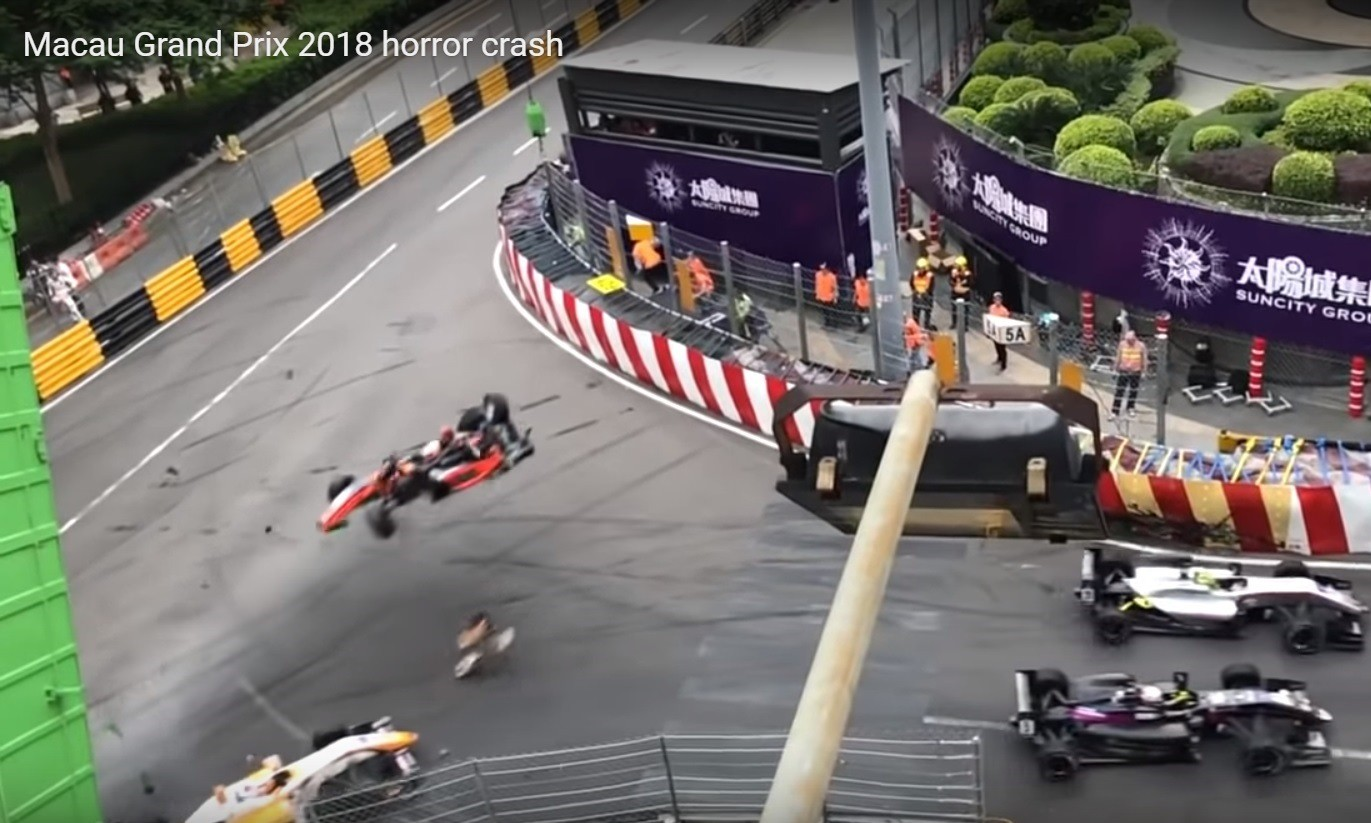 Macau F3 Crash