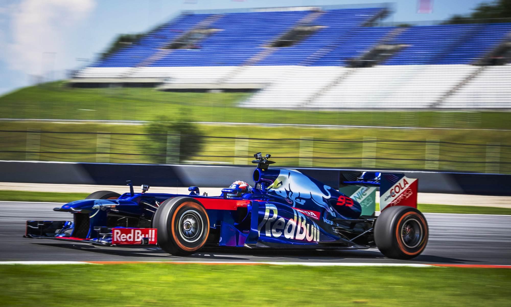 Marc Marquez drives F1 car