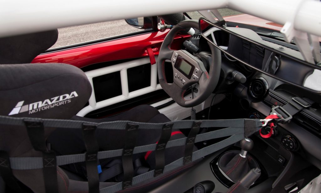 Mazda Global MX5 Cup car interior