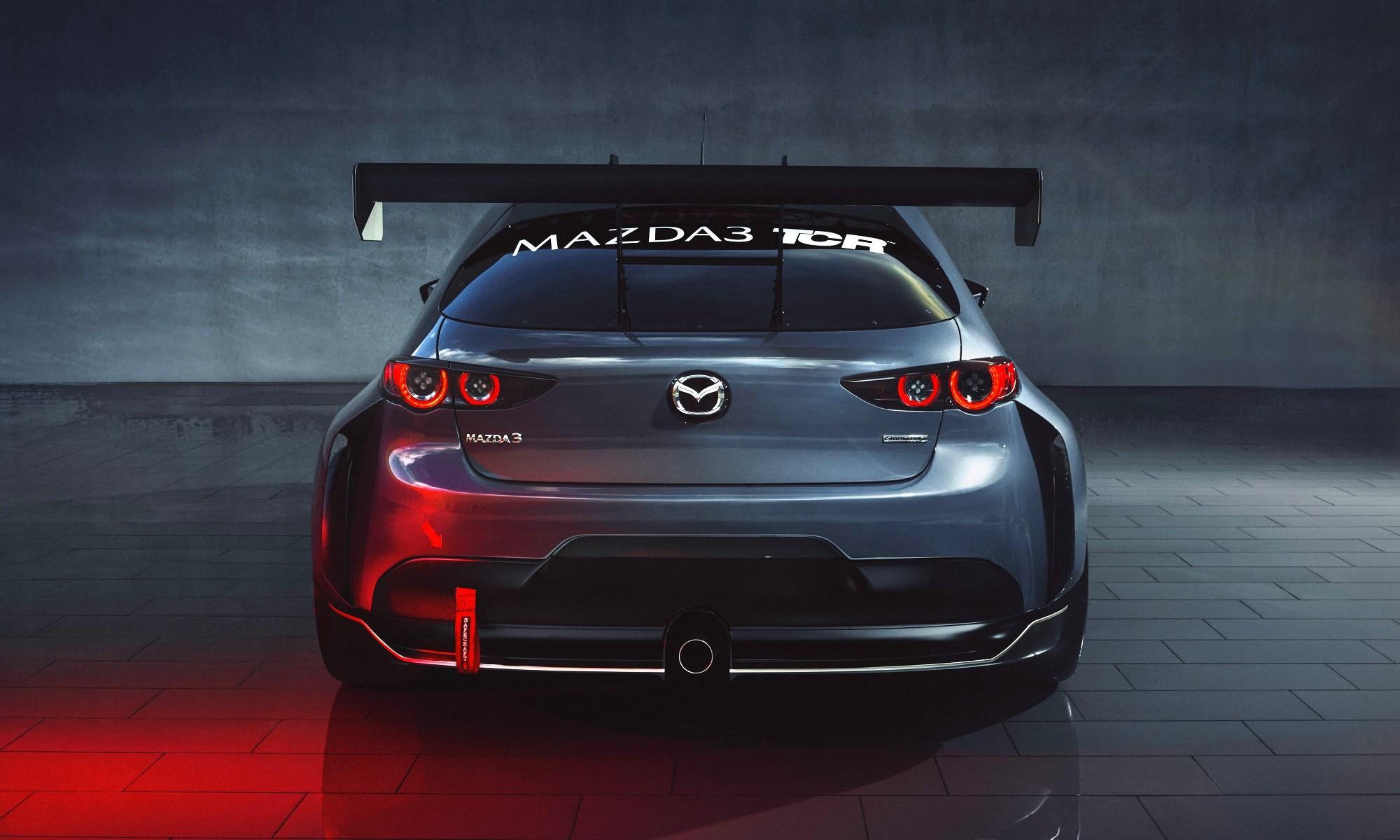 Mazda3 TCR racecar wing