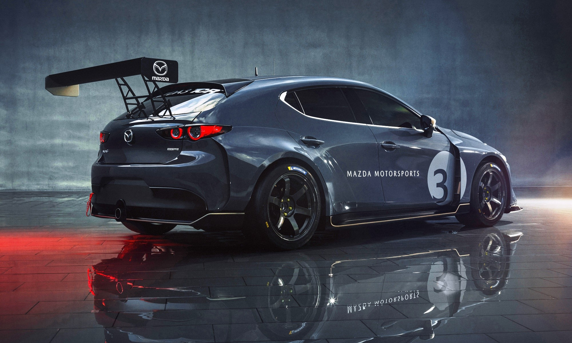 Mazda3 TCR racecar rear