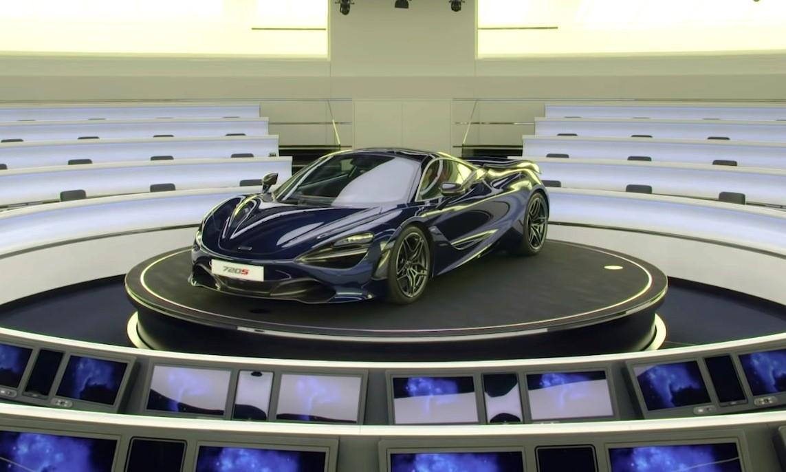McLaren 720S in a classroom
