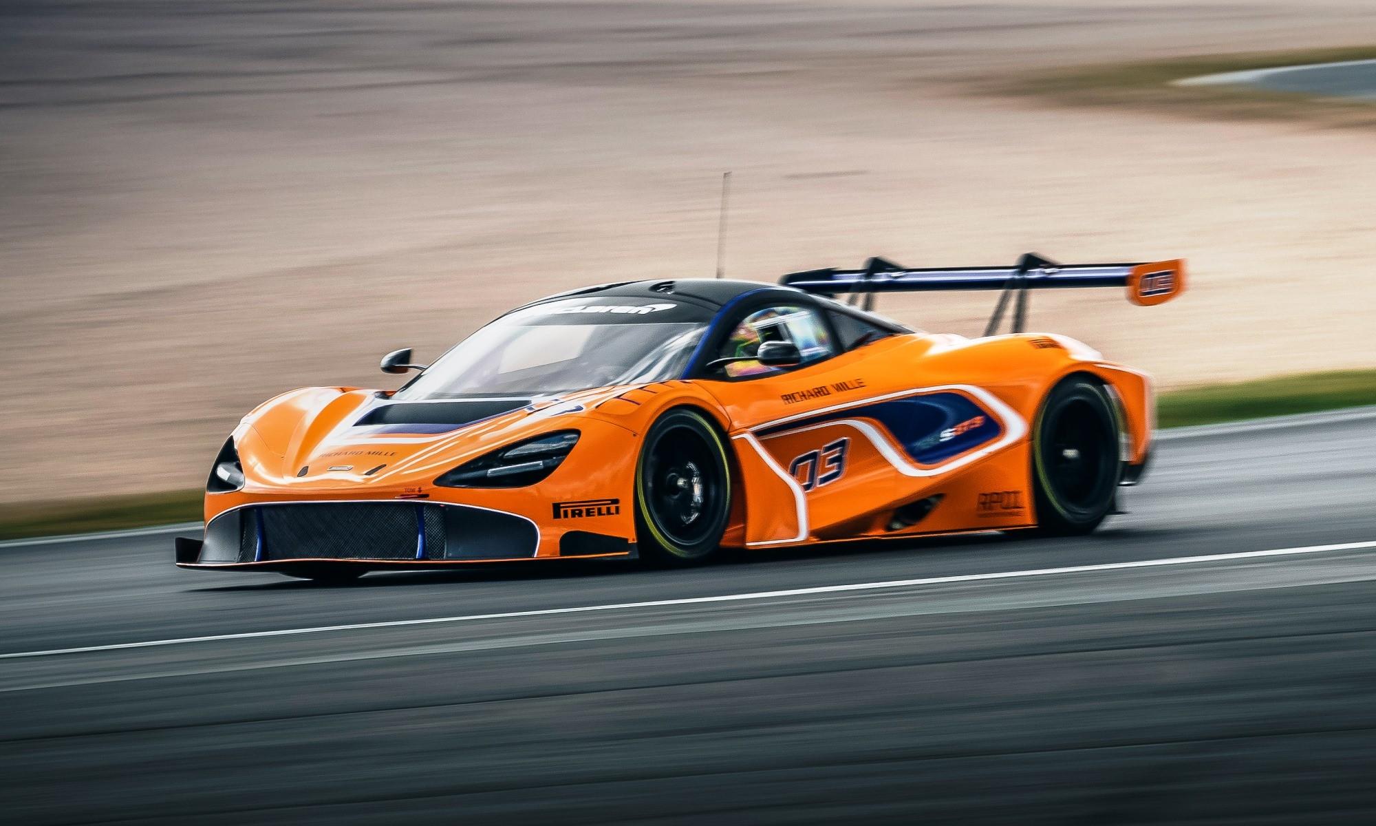 McLaren 720S GT3 in testing