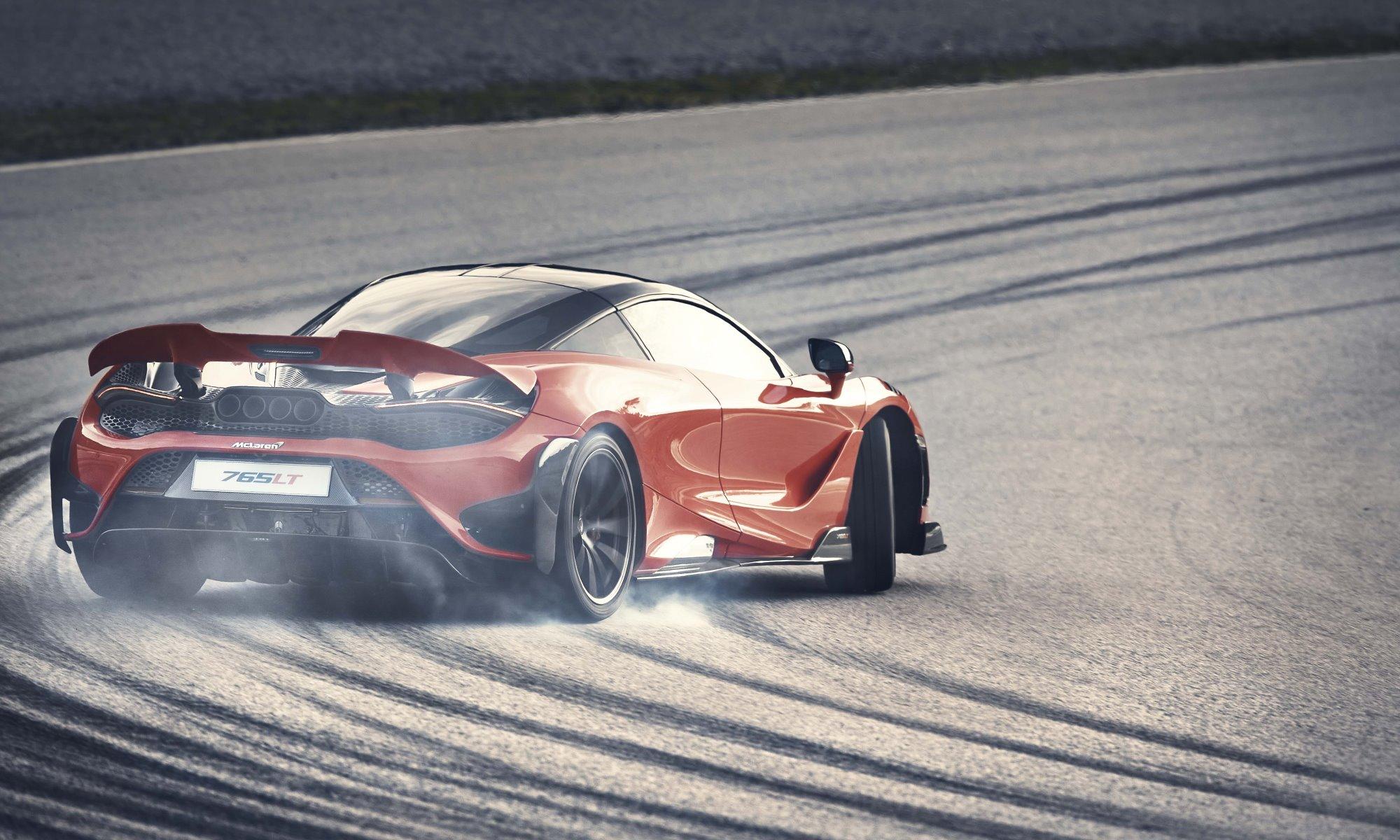 McLaren 765LT sideways rear