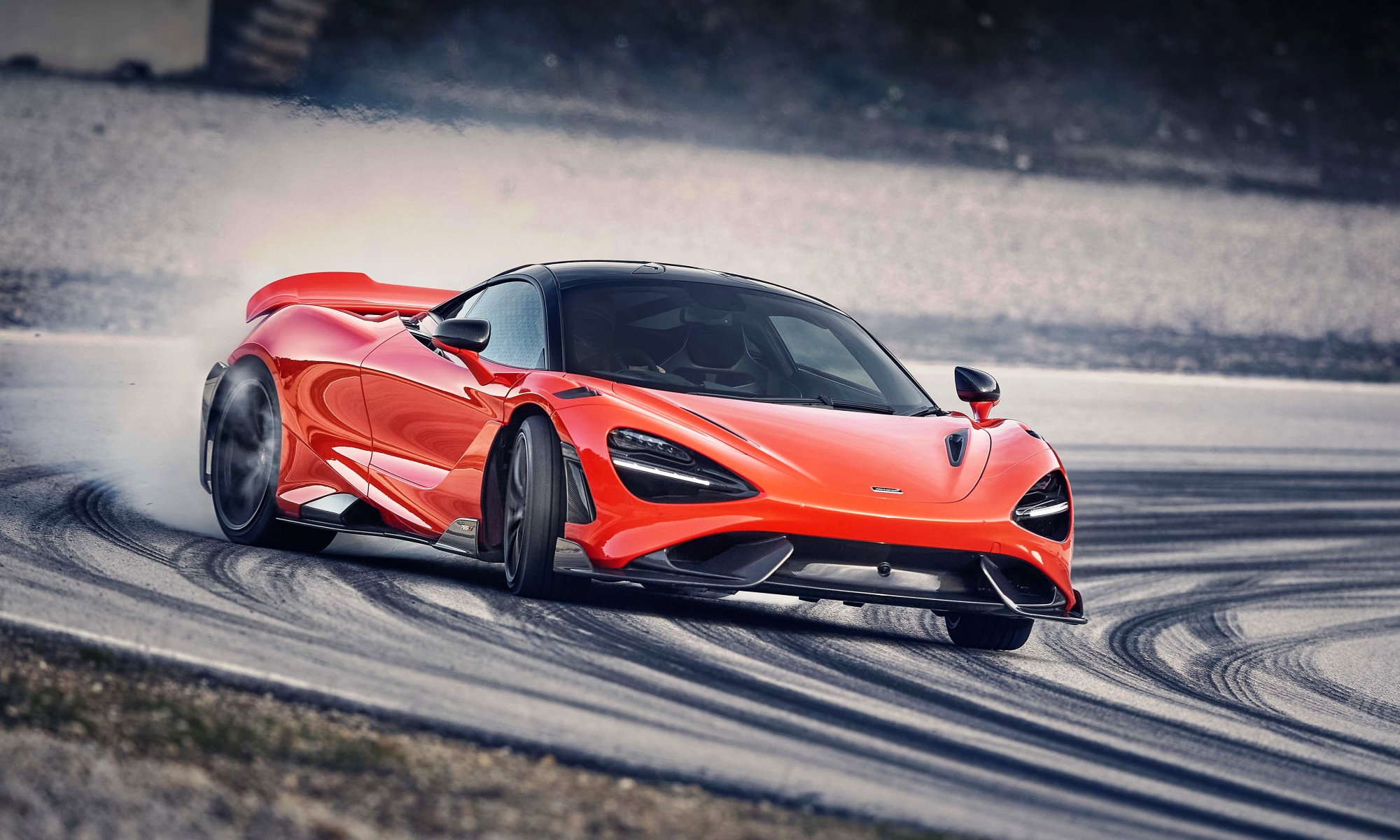 McLaren 765LT sideways