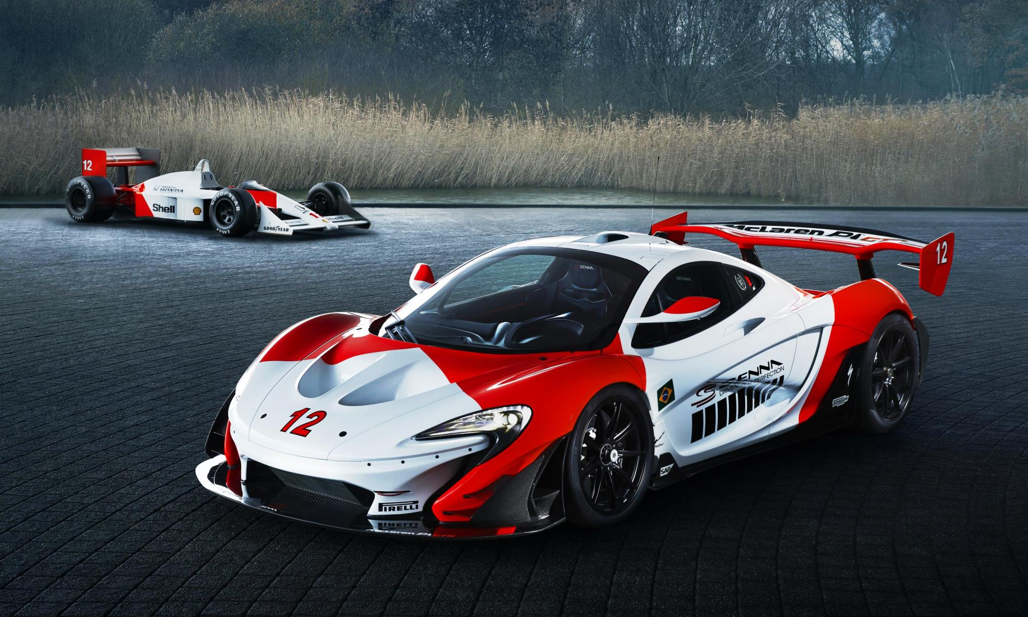 McLaren P1 GTR Beco and F1 car