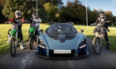 McLaren Senna races three bikes