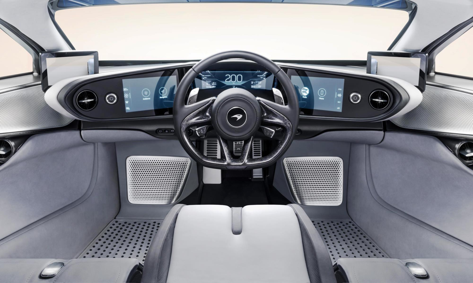 McLaren Speedtail hypercar interior