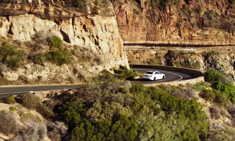A new Mercedes-Benz S-Class on Chapman's Peak Drive