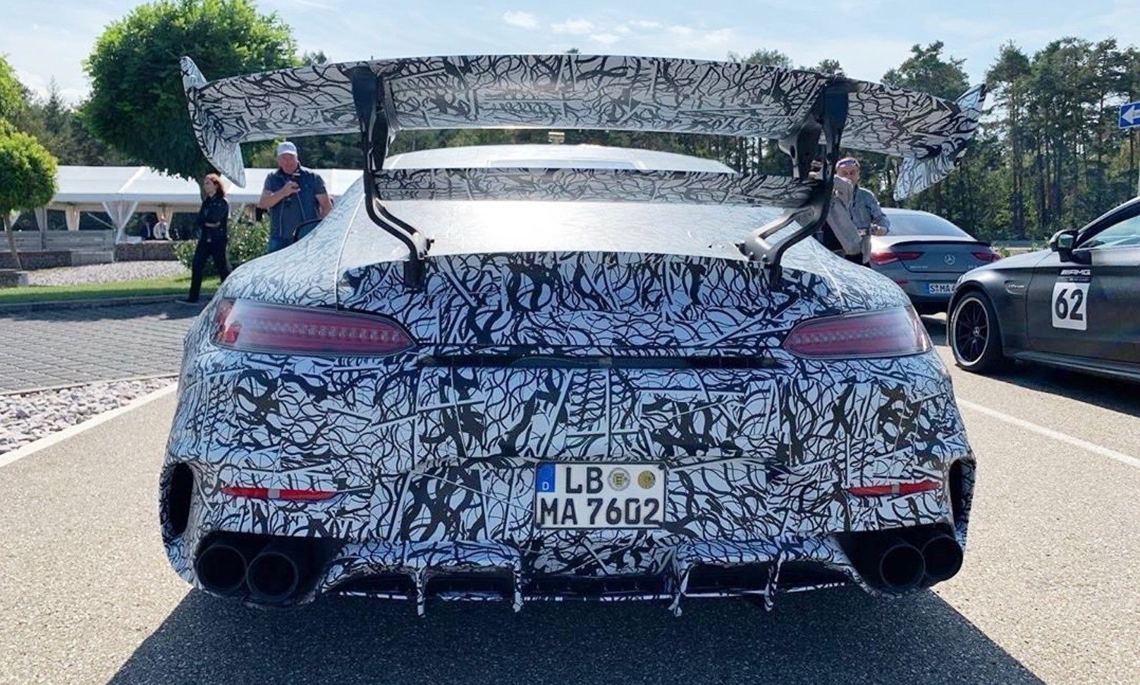 Mercedes-AMG GT Black Series rear wing