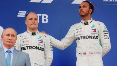 Mercedes-AMG drivers on podium