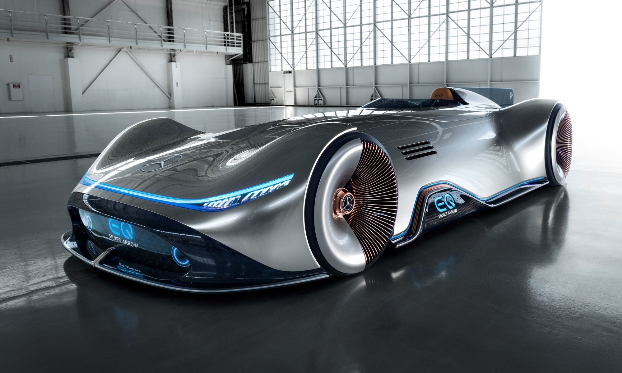 Mercedes-Benz Vision EQ Silver Arrow front