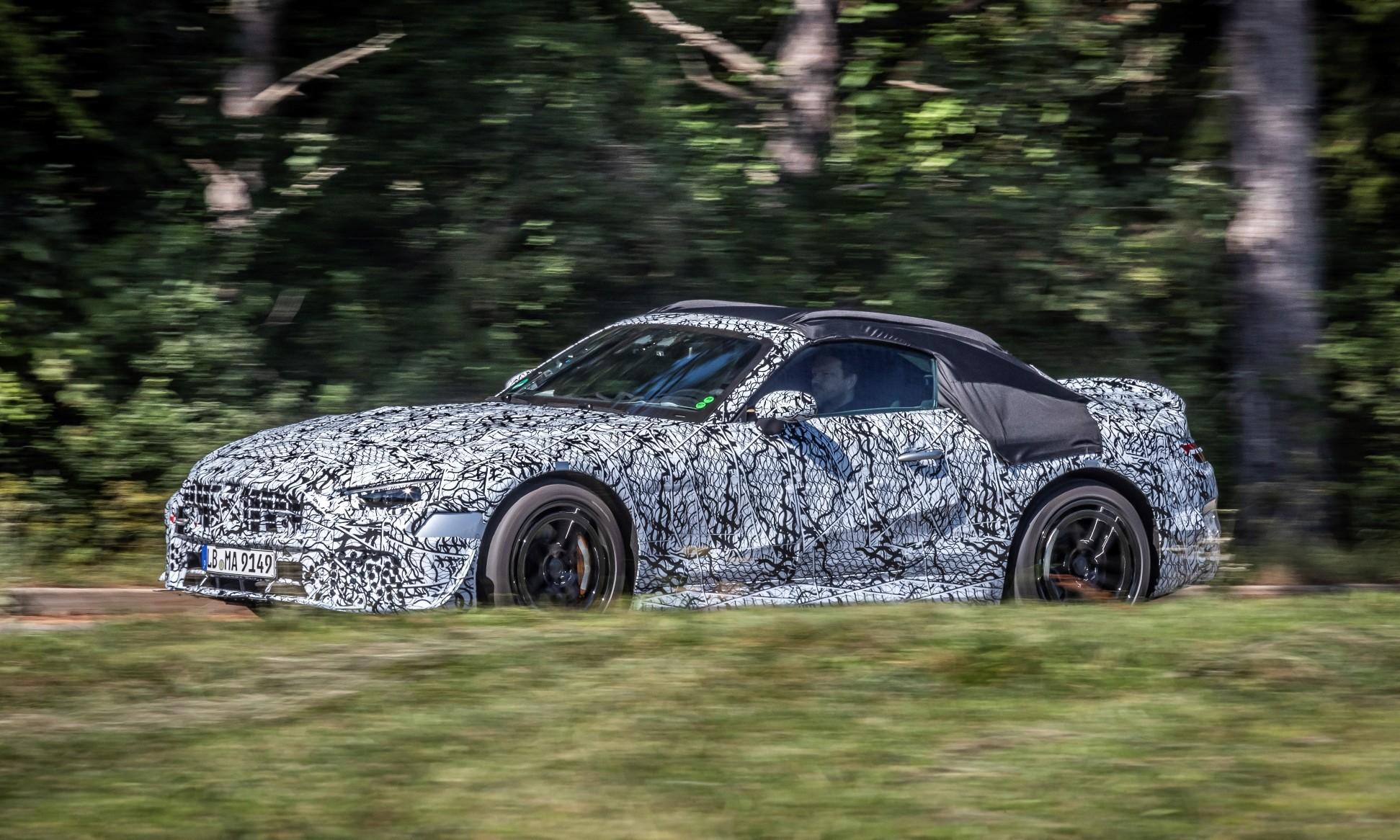 Mercedes SL side