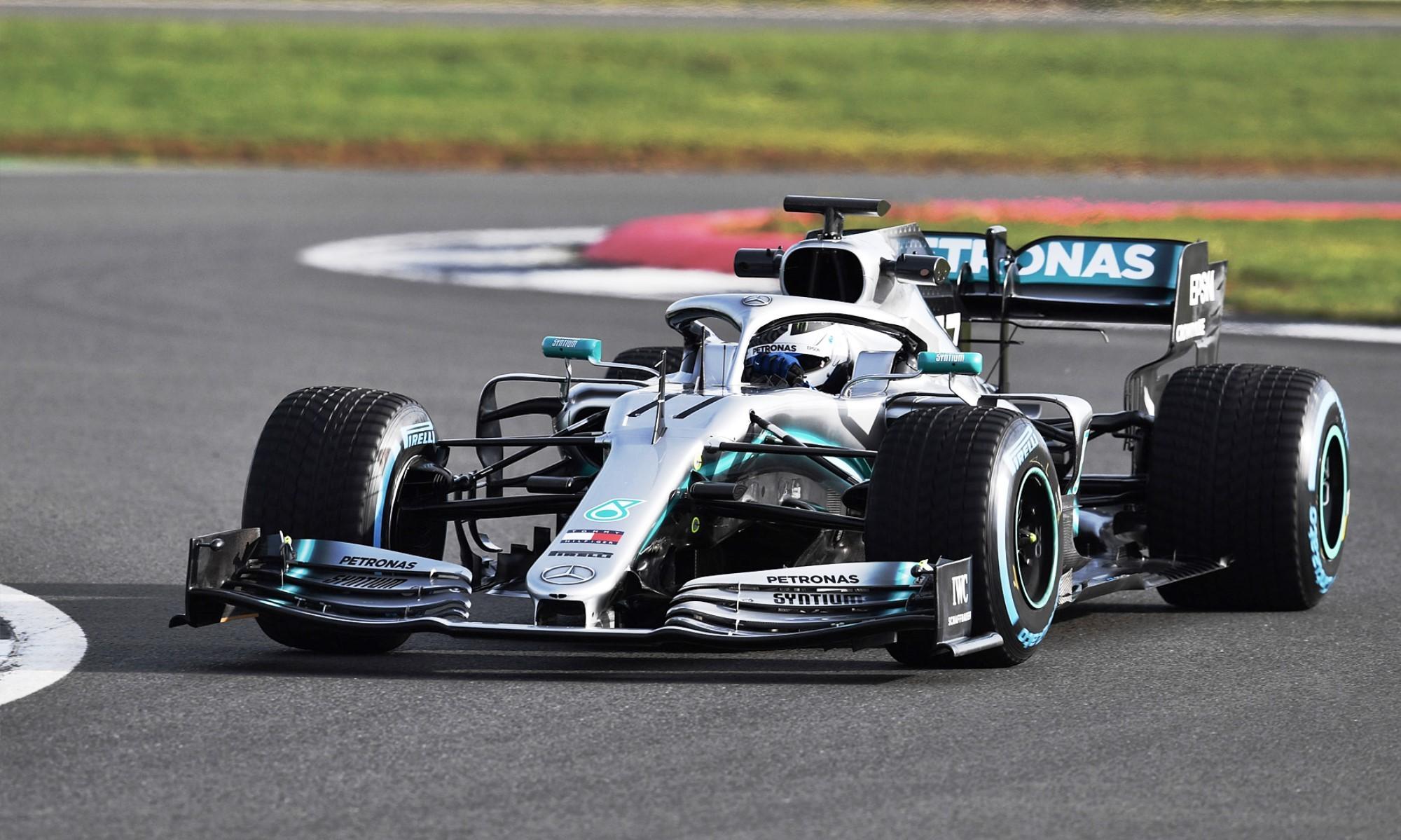 Mercedes W10 in F1 testing 2019