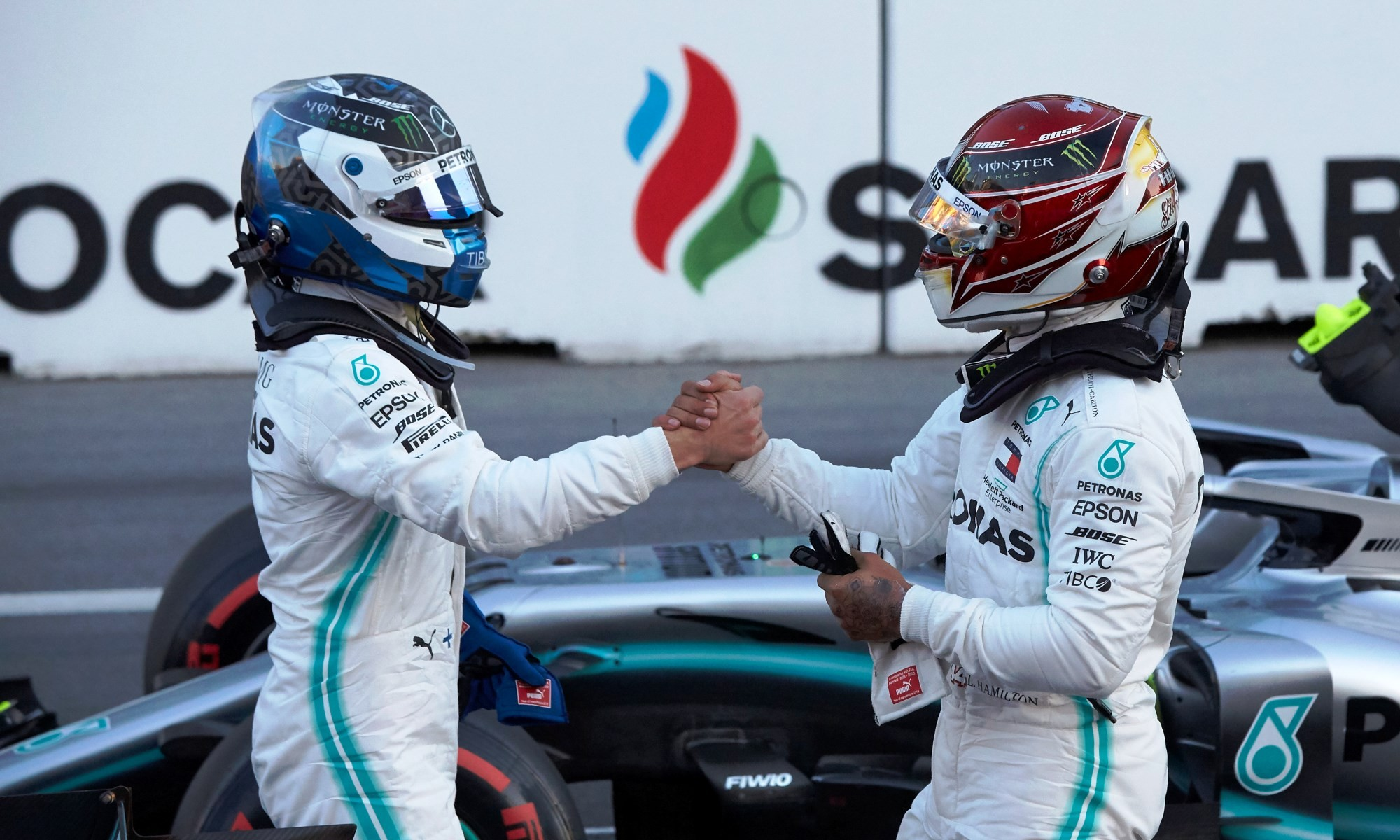 Mercedes registered its fourth 1-2 in as many races